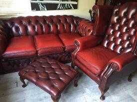 4 piece Oxblood Suite £850 ONO