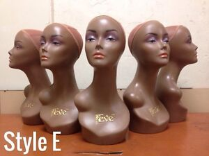 Mannequin Heads for Wigs/Headpieces + Slat Wall Mannequin Hooks