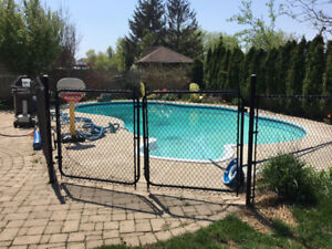 Chain Link Fence with Double Gate