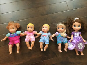 5 Disney princess dolls