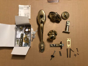 Front Door Handle and Deadbolt Set