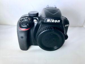 Nikon D3400 Camera Body + 18-55mm f/3.5-5.6G VR Kit + 64GB  SD