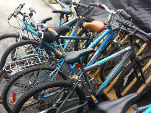 various bicycles for sale