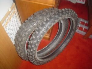 SET OF TIRES FROM 2003 CR125 - BOTH $30.-  MOTOCROSS DIRT BIKE