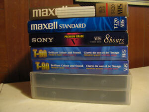 7 Blank Vhs Tapes! 5$