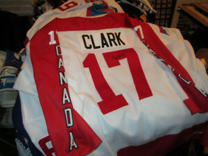 Wendel Clark Autographed Hall of Fame Game Jersey - Rare