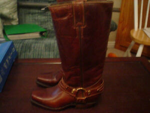 NEW all leather cowboy / riding boots size 2.5 kids (4 women's)