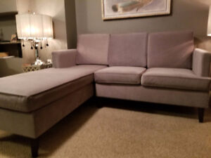 Shadow Grey Sofa and Lounger - Excellent Condition