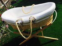 Mamas & Papas Moses basket plus accessories