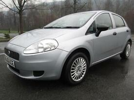 06/56 FIAT GRANDE PUNTO 1.2 ACTIVE 5DR HATCH IN GREY WITH ONLY 53,000 MILES