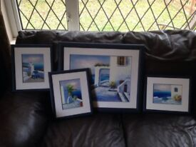 Greek paintings on canvas and professionally framed