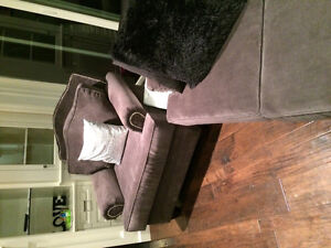 New 3 Piece Studded High Back Custom Grey Couch Set London Ontario image 5