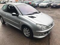 Peugeot 206 1.4 16v ( a/c ) Quiksilver 3 DOOR - 2004 04-REG - 11 MONTHS MOT