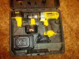 Dewalt 12v XRP drill, 2 batteries in good sharpe