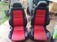 RARE Recaro CC Leather Seats MK3 GOLF (VW,R32,GTI,R20)