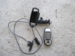 Magellan Meridian Color hand held GPS with base map.