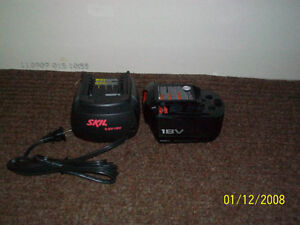 Skill 18 V batteries and charger