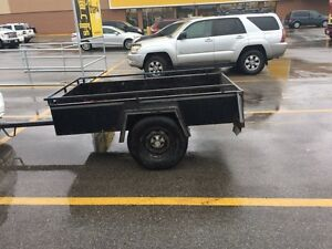 Single snowmobile trailer