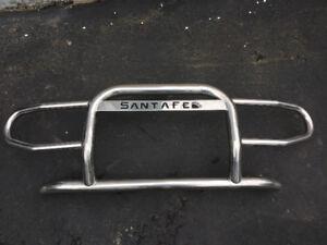 Santa Fe stainless steel bull bumper.
