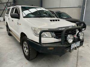 2012 Toyota Hilux KUN26R MY12 SR Double Cab White 5 Speed Manual Utility Boolaroo Lake Macquarie Area Preview
