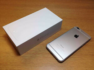 Mint shape in the box iphone 6 silver grey