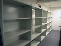 Steel Clip together shelving in very good used condition