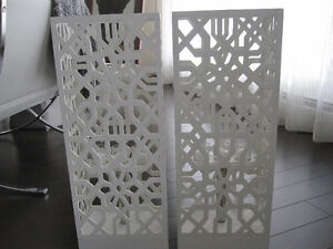 Candle Decor - White Lattice Towers - Set of 2