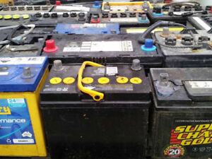 Free pick up of car and truck scrap batteries and other material