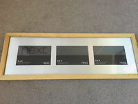 Solid oak photo gallery frame from NEXT BRAND NEW Workington Cumbria