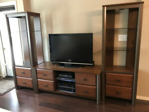 TV Stand and 2 side Towers (DeFehr)