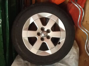 Corolla alloy rims plus tires