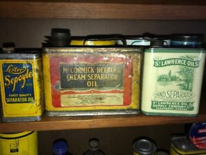 Vintage Cream Seperator and Farm Cans