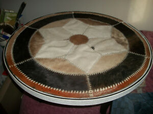 Cowhide coffe table