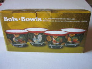 Bowls set of 4 NEW
