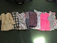 9 dresses baby girl 18-24 month. Gap, Next bundle