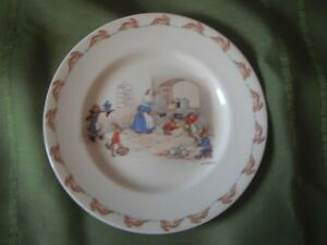 Bunnykins Plate -  Signed by Barbara Vernon c. 1930's - 1950's