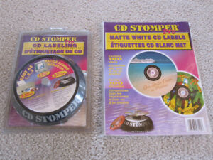 CD DVD labelling kit with 110 labels - brand new
