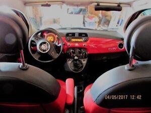 Fiat 500 cabriolet à vendre couleur rouge