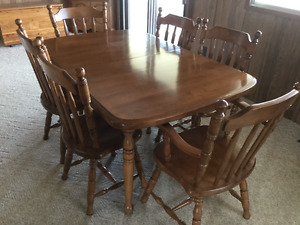 kitchen cabinets are sold.  Maple dining room set still for sale