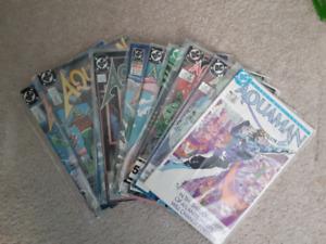 Aquaman DC comic lot x 11 - 2 mini series + specials