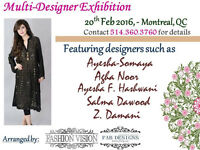 Multi-designer Exhibition Pakistani Indian Agha Noor Sana Safina