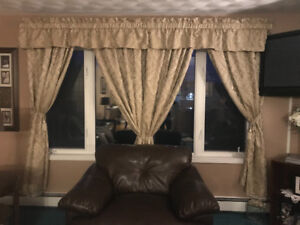 Livingroom & Patio Door Curtains , Valances and Rods