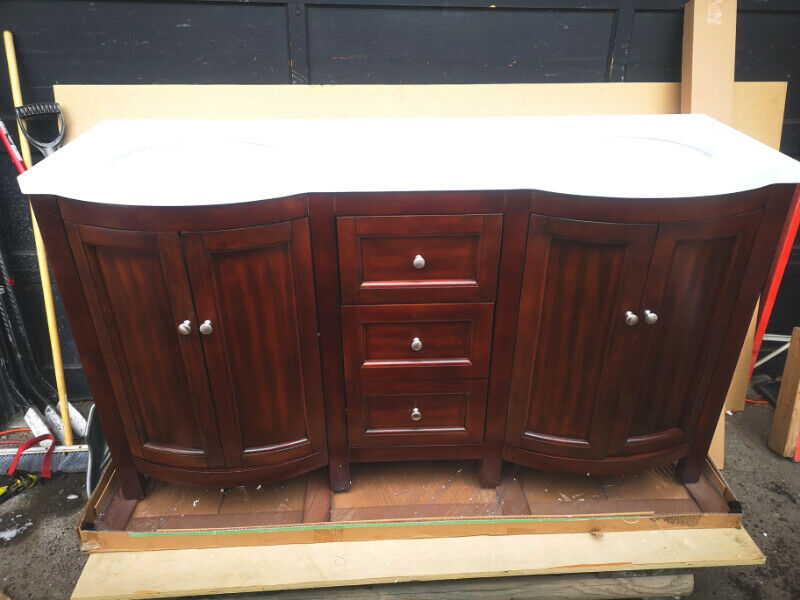 60 in. Double sink bathroom Vanity | Plumbing, Sinks ...