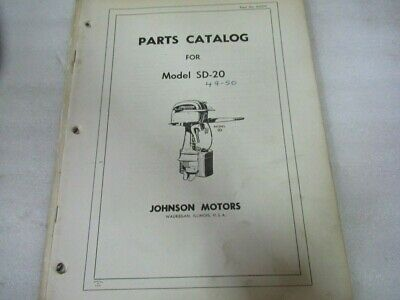 Johnson Motors Parts Catalog Manual