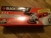 Black & Decker grinder NEUF new 6 amp