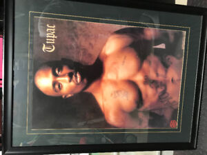 Tupac framed picture