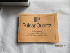 PULSAR MEN'S GOLD/STAINLESS STEEL WATCH w ORIGINAL CASE London Ontario image 5