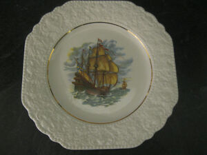 LORD NELSON POTTERY England Plate with Old World Sailing Ship