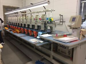 12-HEAD EMBROIDERY MACHINE FOR SALE