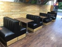 Bench Seating Booth Bespoke Upholstery Restaurant Club Pubs Salons Hotels Cafe